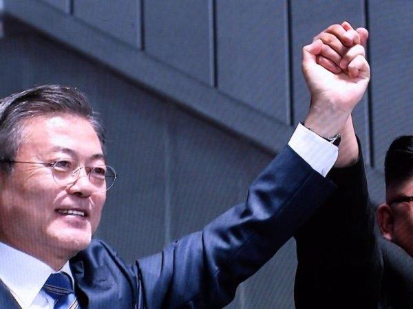 [평양회담]문재인 대통령 환호 속 15만 평양시민 앞 '공개연설' (영상)