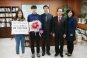 이해식 강동구청장, 평창동계올림픽 정재원 은메달리스트 격려