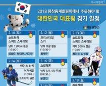 평창 동계올림픽-'대한민국 대표팀 경기 일정'