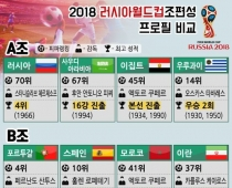 2018 러시아월드컵조편성 프로필 비교