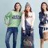 에스팀 모델 4인 4색 '컬러풀' 패션 스타일링