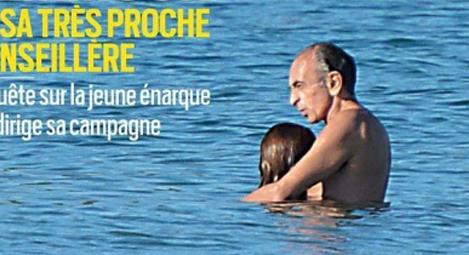 女보좌관과 해변서 포옹