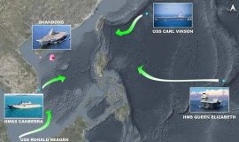 美ㆍ英 항모 3척 중국 포위 거세진 中 압박