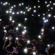 고려대 촛불집회 '진상을 밝혀라'