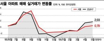 서울 아파트 실거래가 4월부터 이미 오르고 있었다…강남4구 '껑충'
