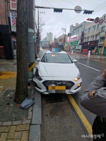 부산서 도로 건너던 70대 보행자, 택시에 치여 '의식불명'