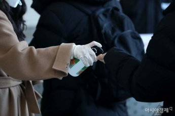 [포토]신종 코로나, 손 소독이 먼저