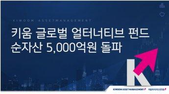 키움 글로벌 얼터너티브 펀드, 순자산 5000억원 돌파