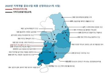 지역에 활력 불어넣는다… 지역개발 공모사업 21개 선정
