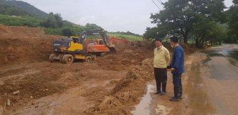 김광수 진안군의회 의장, 집중호우 피해지역 긴급 점검