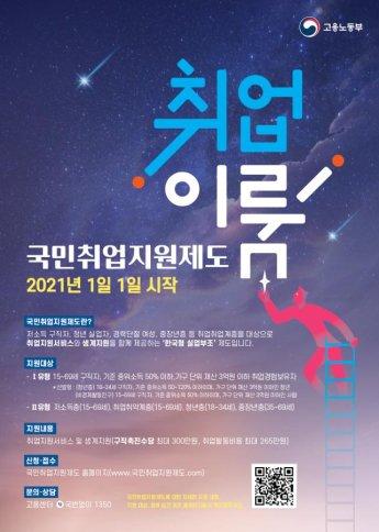 """""""최대 300만원 구직수당""""…국민취업지원제도 홈페이지 개설"""