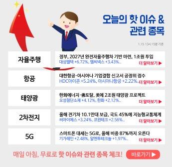 [이슈 및 관련주] 대성엘텍, HDC아이콘, 오성첨단소재..