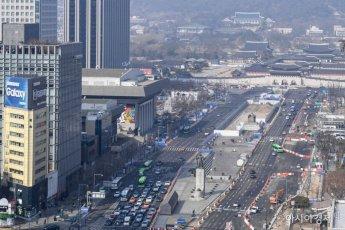 [포토]3월 6일부터 광화문 광장 서측도로 폐쇄
