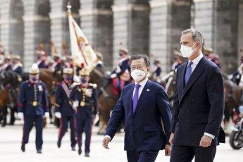 스페인 국왕, 마드리드 왕궁에서 文대통령 환영