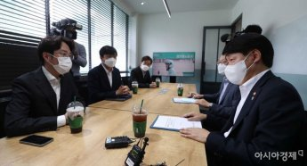 [포토]우아한형제들 대표 만난 고용노동부 장관