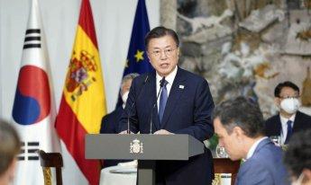 文대통령 스페인 총리와 정상회담…양국 전략적 동반자 관계 격상