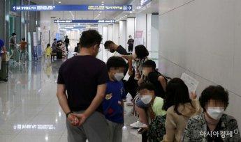 [포토]공항 코로나 검사 기다리는 시민들
