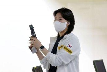 여자 사격 김민정 25m 권총 은메달(종합)