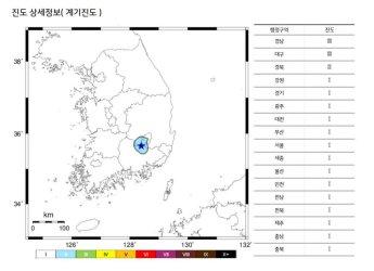 """""""설마 했는데 진짜 지진이더라"""" 대구 달성군서 새벽 5시에 규모 2.5 지진 발생"""