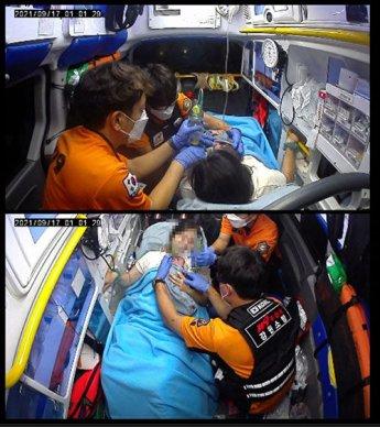 고속도로서 태어난 '숨 안쉬는 아기'… 119 대원들이 살렸다