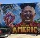 도넛·음료수 든 김정은, LA 거리벽화에 등장