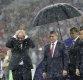 [포토]월드컵 시상식서 혼자 우산 쓴 푸틴