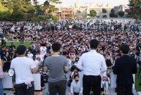 [포토] 조국 후보자 의혹 규명 촉구하는 고려대 학생들