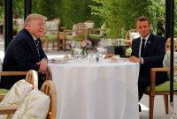 G7 정상회의 앞두고…트럼프-마크롱, '깜짝' 오찬 회동
