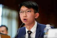 조슈아 웡, 미 의회 출석해 홍콩인권법 통과 촉구