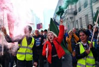 [포토]英하원 둘러싼 브렉시트 찬반 시위대…합의안의 운명은?