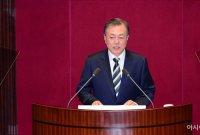 문 대통령 지지율 45.4% '횡보'…民 39.9%·韓 32.8%