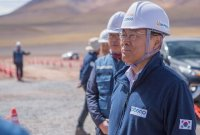최정우 포스코 회장, 아르헨티나 리튬 사업 현장 방문