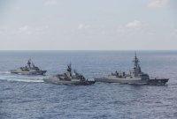 '北 경계확대' 濠 해군, 이지스함 보내고 환적 감시 확대