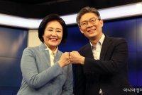 [포토] 박영선·조정훈 서울시장 단일화 토론