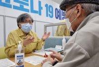 """정은경 """"백신 이상반응 0.1%<br>접종 참여해달라"""""""