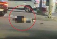 만취여성 그대로 밟고 지나간 승용차…아찔한 사고 현장