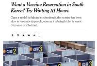 """""""한국에서 백신 예약 원한다면 111시간 대기하라"""" 외신의 일침"""