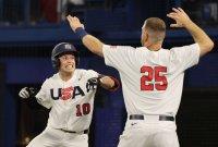 미국 야구, 도미니카 꺾고 패자 준결승전 진출