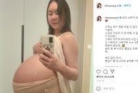 """'세쌍둥이 임신' 104kg 황신영…""""이제 배 터질 것 같다"""""""