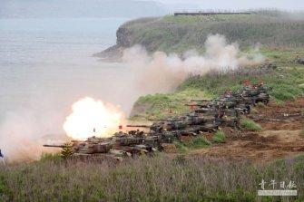중국군 상륙 막을 대만의 주력전차