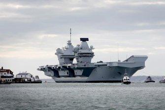 가을에 방한하는 영국의 항공모함은