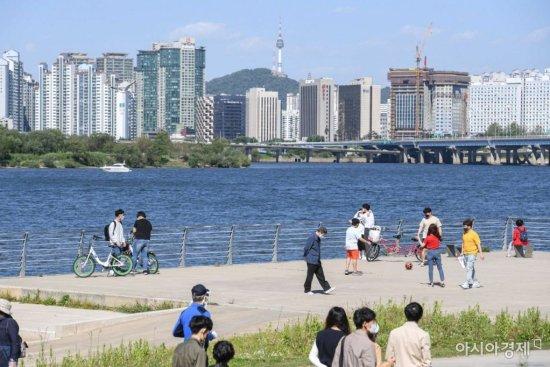 황사 사라진 서울 도심