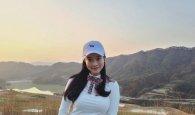 <em>개그우먼</em> 김나희, 노을진 하늘을 배경으로 '찰칵'
