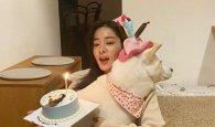 설인아, 반려견과 함께한 생일 근황...미모 '열일'