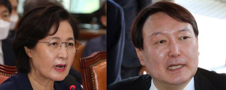 추미애, 윤석열 총장 징계청구·직무정지 명령