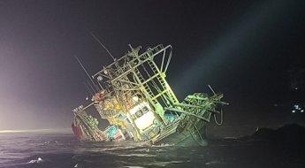 독도 북동쪽 해상서 9명 탑승 선박 전복