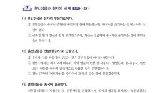 """""""훈민정음은 중국어 통일 위해 만들어졌다""""…'역사 왜곡' 국어 교재 논란"""
