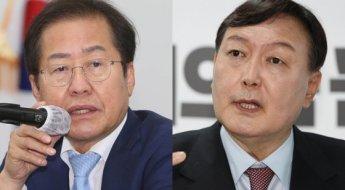 홍준표·윤석열 격화되는 신경전에… 양측 모두 지지율 '하락'