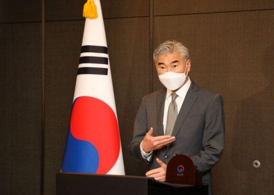 성 김, 오늘 방한北 미사일·종전선언 논의할 듯