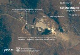 흙먼지로 덮인 北서해발사장…사진서 '포착된 물체'
